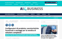 Screenshot Portale AI4Business Declaro Configuratore di prodotto