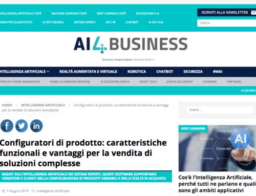Il Configuratore di prodotto Declaro in un nuovo articolo di AI4Business