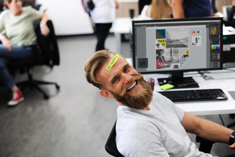 data scientist laughing